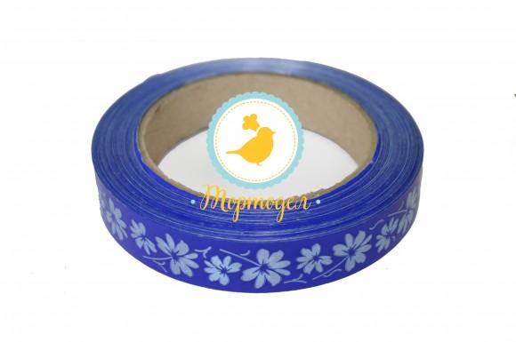 Декоративная лента 2*50 с рисунками,цвет синий.Купить в Киеве,Харькове и Украине по лучшей цене в интернет магазине Тортодел