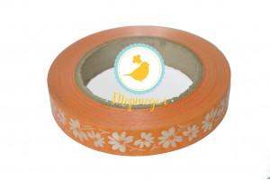Декоративная лента 2*50 с рисунками, цвет оранжевый