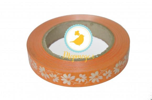 Декоративная лента 2*50с рисунками, цвет оранжевый.Купить в Киеве,Харькове и Украине по лучшей цене в интернет магазине Тортодел