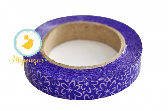 Декоративная лента 2*50 цвет фиолетовый.Купить в Киеве,Харькове и Украине по лучшей цене в интернет магазине Тортодел