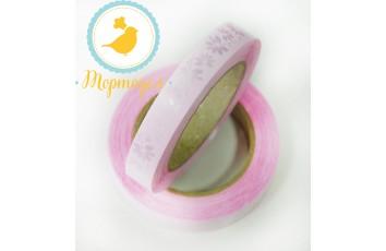 Декоративная лента 2*50 цвет нежно-розовый