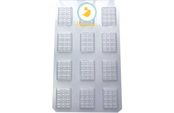 Молд пластиковый плитка шоколада микро А