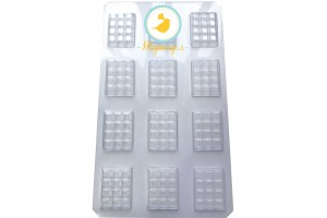Молд пластиковый плитка шоколада микро В