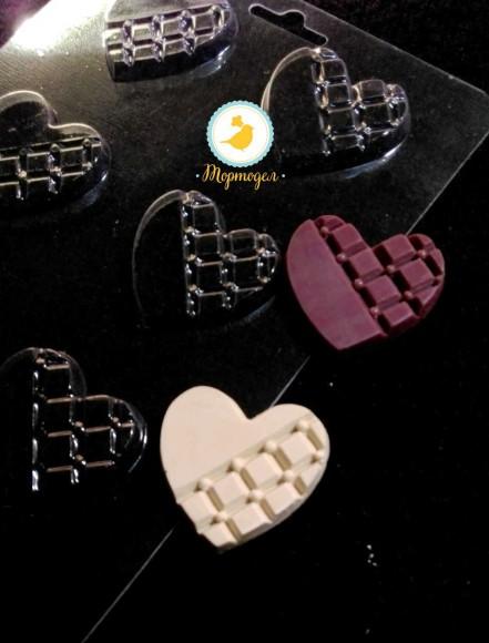 Молд пластиковый Сердце.Купить в Киеве,Харькове и Украине по лучшей цене в интернет магазине Тортодел