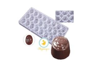 Поликарбонатная форма для конфет Миндаль 10 шт.
