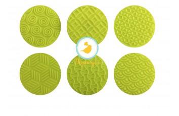 Набор штампов для капкейков  из 6 ед (силиконовый оттиск)