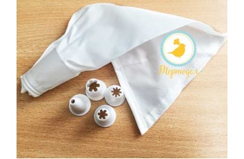 Набор пластиковых насадок 4 ед. с мешок Zenker