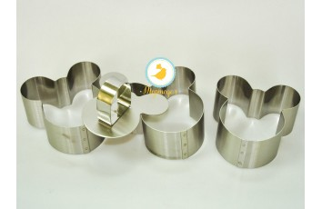 Форма металлическая для формировки Микки из 3 ед.