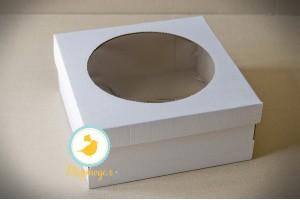 Коробка для торта 250х250х110 с окошком