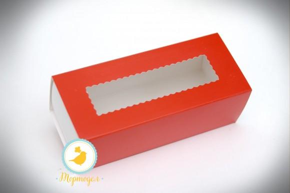 Коробка для макаронс красная 141х49х59 мм.Купить в Харькове,Киеве по лучшей цене в интернет- магазине Тортодел