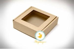 Коробка для пряников,печенья с окошком 100х100х30 мм