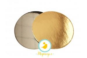 Подложка круглая D12  золото/серебро
