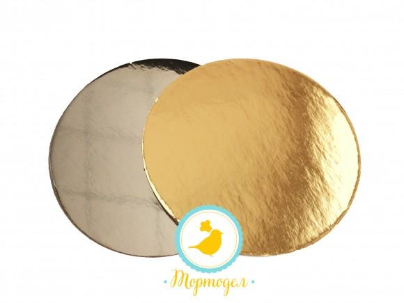 Подложка круглая D9 золото/серебро
