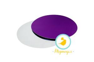 Подложка круглая D21 фиолет/серебро