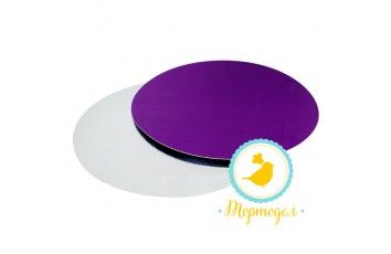 Подложка круглая D24 фиолет/серебро
