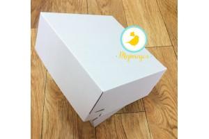 Коробка картонная для торта, размер 23х23х10 см