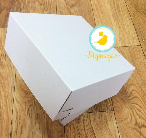 Коробка картонная для торта, размер 23х23х10 см.Купить в Харькове,Киеве по лучшей цене в интернет- магазине Тортодел