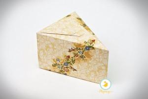 """Коробка 150х110х90 для кусочка торта, десертов """"Орнамент"""""""