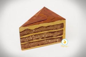 """Коробка 150х110х90 для кусочка торта, десертов """"Торт"""""""