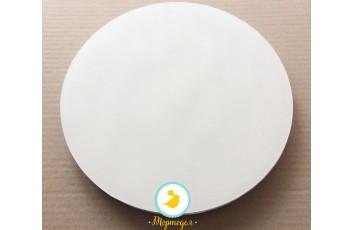Поднос круглый усиленный d 25 см h-2см белое/белое
