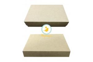 Коробка для эклеров, зефира, печенья и прочих десертов 230*150*60 мм крафт картон