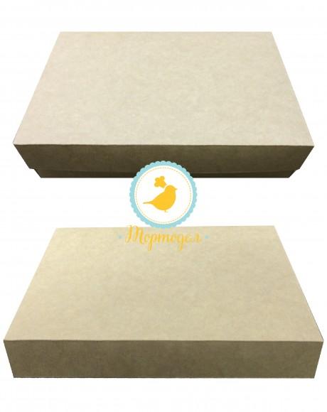 Коробка для эклеров, зефира, печенья и прочих десертов 230*150*60 мм крафт картон.Купить в Харькове,Киеве по лучшей цене в интернет- магазине Тортодел