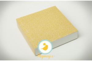 Коробка для конфет 185х185х42 на 16 штук №3 винтажный фон