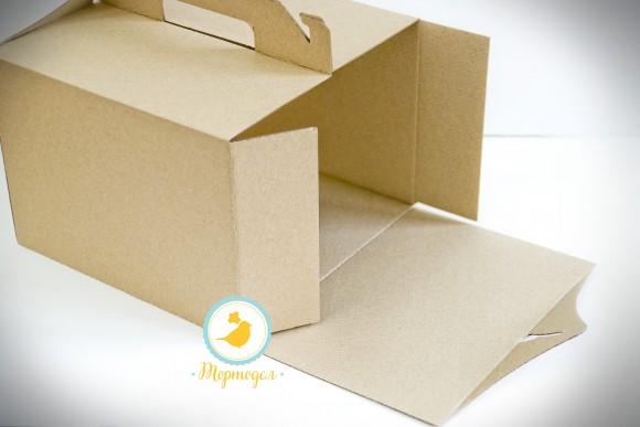 Коробка 255 х 255 х 185 мм (бурая).Купить в Харькове,Киеве по лучшей цене в интернет- магазине Тортодел