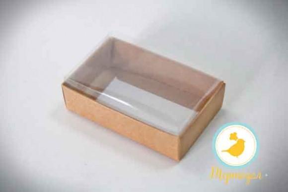 Коробка для конфет 95х60х30 с прозрачной крышкой Крафт.Купить в Харькове,Киеве по лучшей цене в интернет- магазине Тортодел