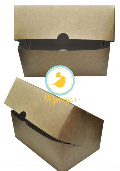 Коробка-контейнер для тортов, чизкейков, пирожных 180*120*80 мм крафт.Купить в Харькове,Киеве по лучшей цене в интернет- магазине Тортодел