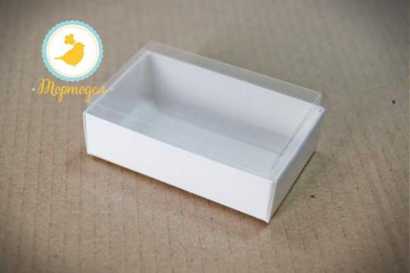 Коробка для конфет 95х60х30 с прозрачной крышкой Белая.Купить в Харькове,Киеве по лучшей цене в интернет- магазине Тортодел