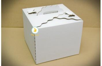 Коробка для торта 300х300х250 с бабочками