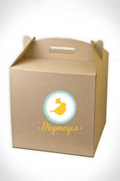 Коробка для торта 300х300х300 мм бурая.Купить в Харькове,Киеве по лучшей цене в интернет- магазине Тортодел