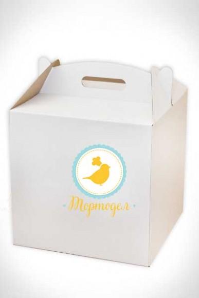 Коробка для торта 300х300х300 мм белая.Купить в Харькове,Киеве по лучшей цене в интернет- магазине Тортодел