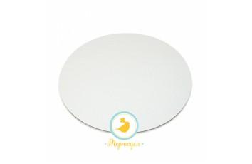 Подложка под торт круглая D24  однослойная белая