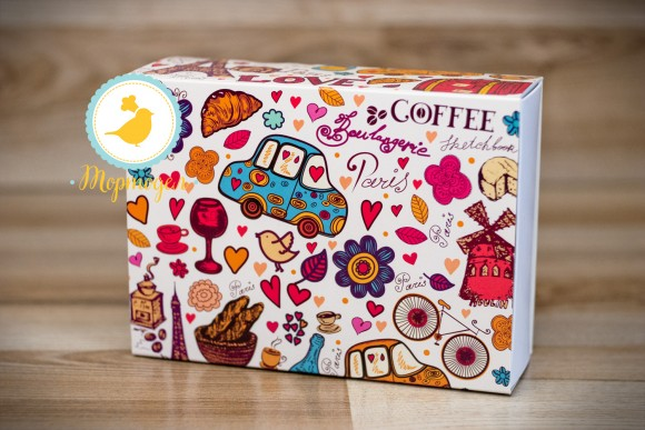 Коробка для Макаронс 115х155х50 Paris (на 12 шт).Купить в Харькове,Киеве по лучшей цене в интернет- магазине Тортодел