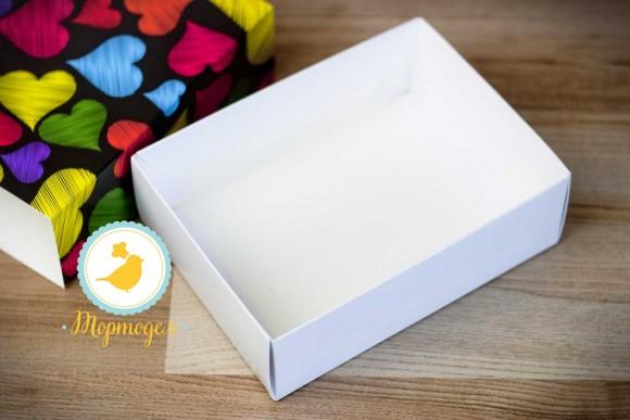 Коробка для Макаронс 115х155х50 Сердечки (на 12 шт темный фон).Купить в Харькове,Киеве по лучшей цене в интернет- магазине Тортодел