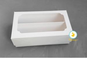 Коробка для Макаронс Double 200х120х60 мм мелованная белая
