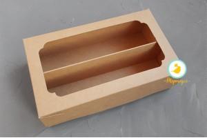 Коробка для Макаронс Double 200х120х60 мм  крафт картон