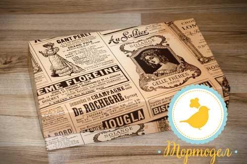 Коробка для еклеров, зефира, печенья и прочих десертов 230*150*60 мм Ретро.Купить в Харькове,Киеве по лучшей цене в интернет- магазине Тортодел