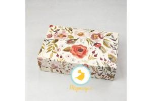 Коробка для еклеров, зефира, печенья и прочих десертов 230*150*60 мм Акварель