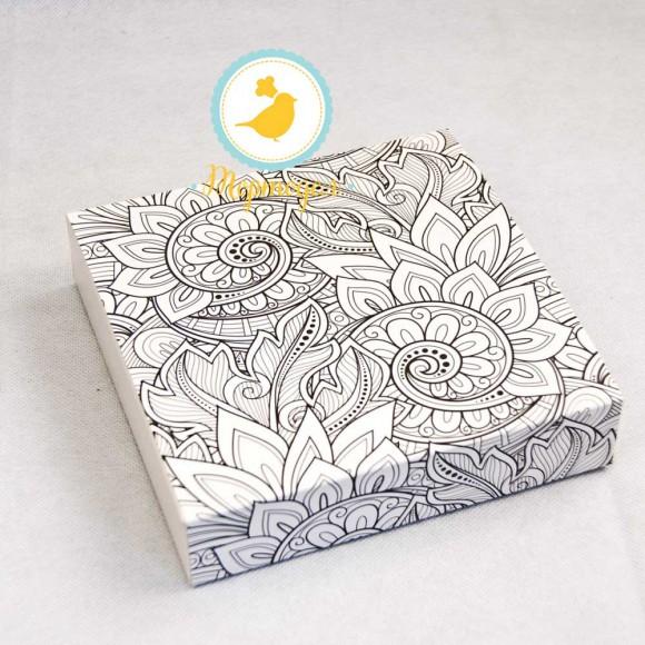 Коробка для конфет 185х185х42 на 16 штук №9 Раскраска.Купить в Харькове,Киеве по лучшей цене в интернет- магазине Тортодел