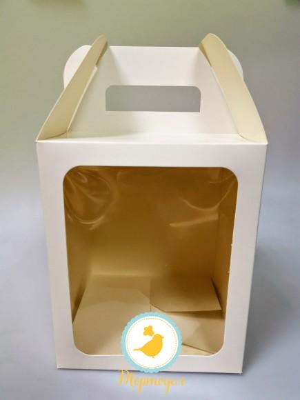 Коробка пасхальная 165х165х200 мм белая.Купить в Харькове,Киеве по лучшей цене в интернет- магазине Тортодел