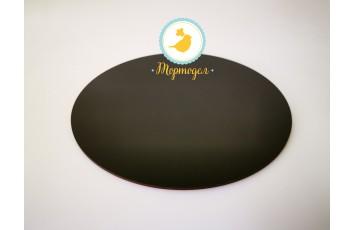 Подставка круглая для торта черная 35 см двп