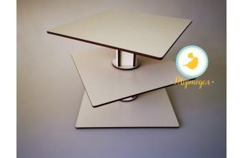 Подставка под торт Кубик-рубик 3 яруса двп №2 (Разборной)