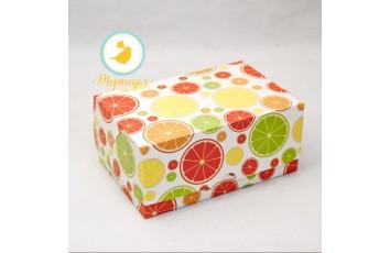 """Коробка-контейнер для тортов, чизкейков, пирожных """"Цитрус"""" 180*120*80 мм"""