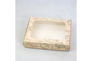 Коробка для печенья,пряников с окошком 192х148х40 мм Печати