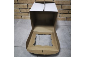 Коробка для торта 250х250х300 с окошком