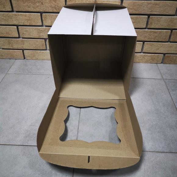Коробка для торта 300х300х300 с окном