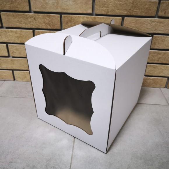 Коробка для торта 250х250х300 с окошком.Купить в Харькове,Киеве по лучшей цене в интернет- магазине Тортодел